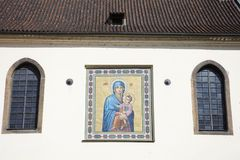 Iglesia de St Mary de la nieve en Wenceslas Square Vaclavske Namesti Imagen de archivo