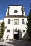 Iglesia de St Mary de la nieve en Wenceslas Square Vaclavske Namesti en Praga, República Checa Foto de archivo libre de regalías