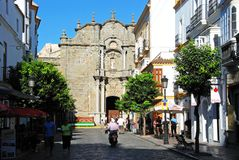 Iglesia de St Matthew, Tarifa Foto de archivo libre de regalías