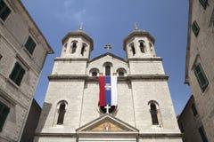 Iglesia de St Nicolás en Kotor Imágenes de archivo libres de regalías