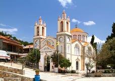 Iglesia de St Panteleimon en el pueblo de Siana rhodes Imagen de archivo libre de regalías