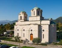 Iglesia de St. Sava. Tivat, Montenegro Imágenes de archivo libres de regalías
