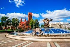 Iglesia de St Simon y de Alena, Minsk foto de archivo libre de regalías