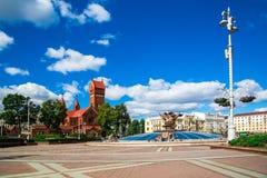 Iglesia de St Simon y de Alena, Minsk foto de archivo