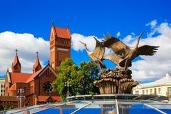 Iglesia de St Simon y de Alena, Minsk fotografía de archivo