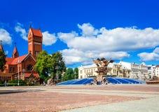 Iglesia de St Simon y de Alena, Minsk imágenes de archivo libres de regalías