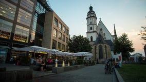 Iglesia de St Thomas en Leipzig, Alemania almacen de video