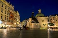 Iglesia de St Wojciech en Kraków Fotos de archivo libres de regalías