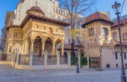 Iglesia de Stavropoleos, Bucarest, Rumania Foto de archivo