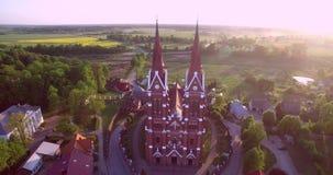 Iglesia de Sveksna en Lituania almacen de video