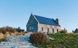 Iglesia de Tekapo del lago Del sur, Cantorbery Imagen de archivo