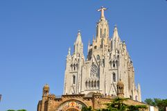 Iglesia de Tibidabo en Barcelona, España. Fotografía de archivo