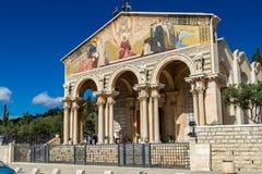 Iglesia de todas las naciones, iglesia o basílica del Fotografía de archivo