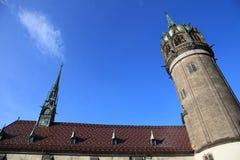 Iglesia de todos los santos, Wittenberg, Alemania fotografía de archivo libre de regalías