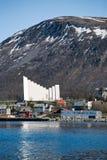 Iglesia de Tromso Imagen de archivo libre de regalías