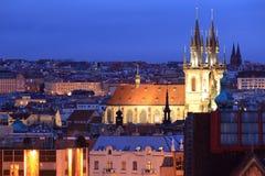 Iglesia de Tyn en Praga Imagen de archivo