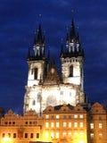 Iglesia de Tyn en Praga Foto de archivo
