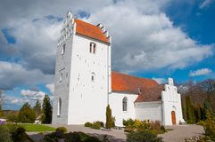 Iglesia de Udby en Dinamarca Fotos de archivo