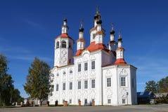 Iglesia de Vhodoierusalimskaya en Totma Fotos de archivo libres de regalías