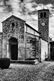 Iglesia de Vigoleno Foto de archivo libre de regalías