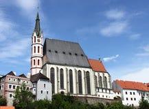 Iglesia de Vitus del santo en Cesky Krumlov Fotos de archivo libres de regalías