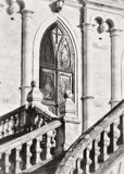 Iglesia de Vladimir en Bykovo Área de Moskovskaya puertas del hierro labrado al templo del castillo Fotografía de archivo