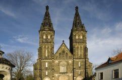 Iglesia de Vysehrad - Praga Fotos de archivo libres de regalías