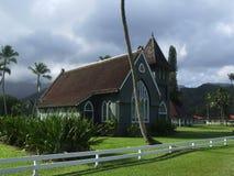 Iglesia de Waioli Huiia en Hanalei, Kauai, Hawaii Foto de archivo