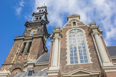 Iglesia de Westerkerk en el centro histórico de Amsterdam Fotos de archivo