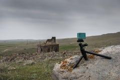 Iglesia de Zoravar del santo en Yeghvard Armenia fotografía de archivo libre de regalías