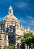 Iglesia del ` Agata de Badia di Sant en Catania, Italia Fotos de archivo libres de regalías