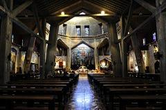 Iglesia del anuncio en Nazaret, Israel Foto de archivo libre de regalías