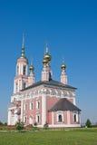 Iglesia del arcángel Mikhail y flora y Lavra Imagenes de archivo