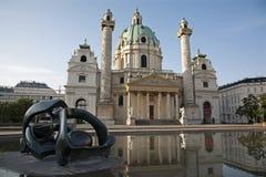 Iglesia del Barroco de Viena - de Charles Boromeo Fotografía de archivo libre de regalías