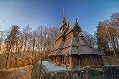 Iglesia del bastón de Fantoft Fotos de archivo libres de regalías