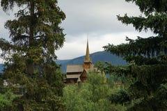 Iglesia del bastón en Noruega Imagen de archivo libre de regalías