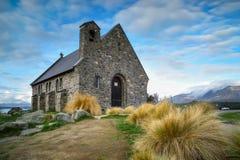 Iglesia del buen pastor construido desde 1935, lago Tekapo, nuevo Z imagen de archivo libre de regalías