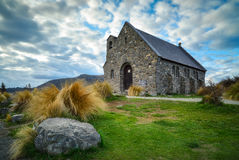 Iglesia del buen pastor construido desde 1935, lago Tekapo, nuevo Z foto de archivo libre de regalías