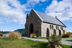 Iglesia del buen pastor, lago Tekapo Fotos de archivo libres de regalías