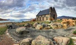 Iglesia del buen Sheperd, lago Tekapo Imagenes de archivo