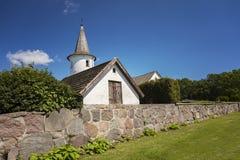 Iglesia del campo en Suecia Imagen de archivo