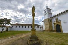 Iglesia del Carmen in Villa de Leyva, Colombia. royalty free stock photography