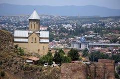Iglesia del castillo de Tbilisi Imágenes de archivo libres de regalías
