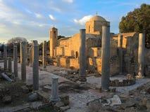 Iglesia del chrysopolitissa del kyriaki de Ayia en Paphos, Chipre Fotos de archivo libres de regalías