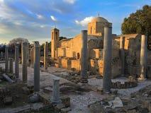 Iglesia del chrysopolitissa del kyriaki de Ayia en Paphos, Chipre Fotografía de archivo libre de regalías