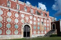 Iglesia del convento de St Dominic en Uayma, México Foto de archivo