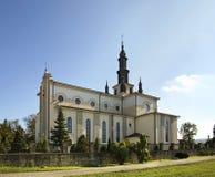 Iglesia del corazón inmaculado de Maria en Dubiecko polonia Imagen de archivo libre de regalías