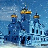 Iglesia del cristianismo en Rusia, la Navidad imágenes de archivo libres de regalías