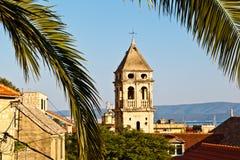 Iglesia del Espíritu Santo en Omis Fotografía de archivo libre de regalías
