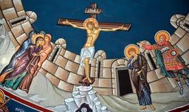 Iglesia del fresco de Santo Sepulcro Fotografía de archivo